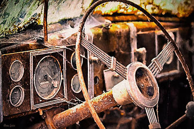 Photograph - Abandoned Antique Truck 1 by Anna Louise