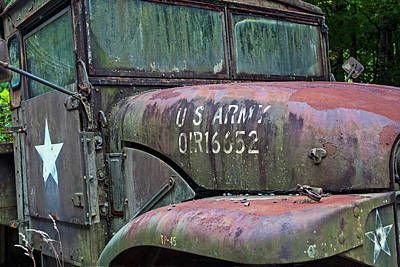 Photograph - Abandoned Army Truck 2 by Ginger Wakem