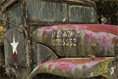 Photograph - Abandoned Army Truck by Ginger Wakem