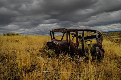 Photograph - Abandoned Auto by Dave Rennie