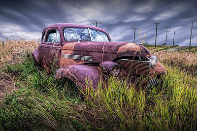 Photograph - Abandoned Auto With Smashed Windshield by Randall Nyhof