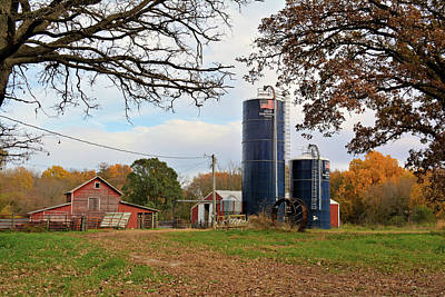 Photograph - Abandoned Autumn Farm by Bonfire Photography