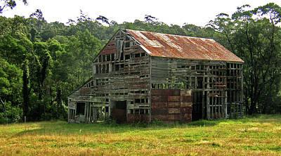 Photograph - Abandoned Barn by Elisabeth Dubois