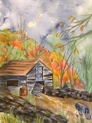 Painting - Abandoned Barn by Ellen Levinson