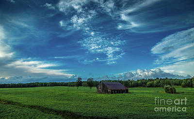 Photograph - Abandoned Barn In Soybean Field by Roger Monahan