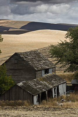 Photograph - Abandoned Barn by Roger Mullenhour