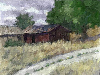 Country Dirt Roads Digital Art - Abandoned Barns Dop by David King