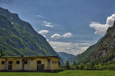 Photograph - Abandoned Barrack In The Alps by Stuart Litoff