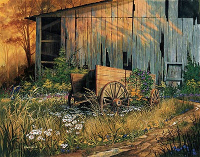 Barn Wood Painting - Abandoned Beauty by Michael Humphries