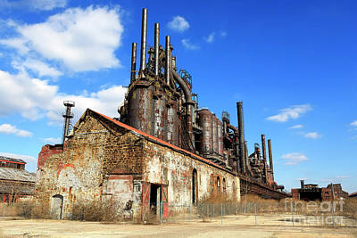 Photograph - Abandoned Bethlehem Steel by John Rizzuto