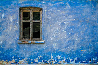 Old House Photograph - Abandoned Blue by Pawel Litwin