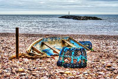 Photograph - Abandoned Boat And Lobster Pot  by Chris Day