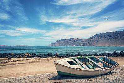 Photograph - Abandoned Boat by Delphimages Photo Creations
