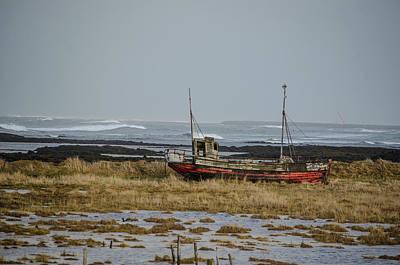 Photograph - Abandoned Boat Iceland by Deborah Smolinske