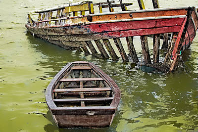 Art Print featuring the photograph Abandoned Boat by Kim Wilson