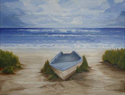Painting - Abandoned Boat by Linda Bennett