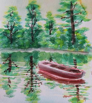 Abandoned Boat Art Print by Remegio Onia