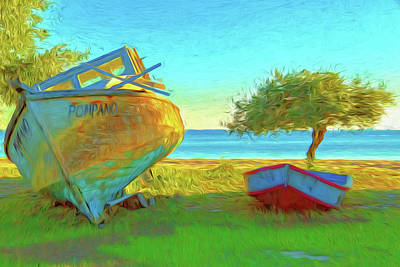 Photograph - Abandoned Boats On Choctawhatchee Bay by Kay Brewer