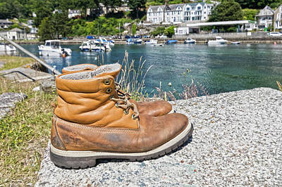 Photograph - Abandoned Boots by Terri Waters
