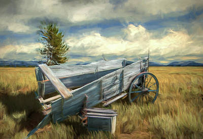 Photograph - Abandoned Broken Frontier Wagon by Randall Nyhof