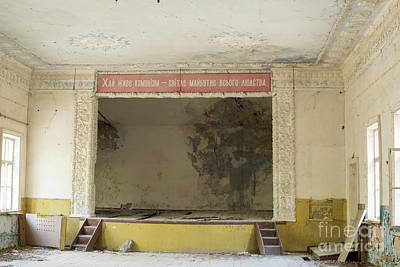 Photograph - Abandoned Building Interior In Chernobyl Exclusion Zone by Juli Scalzi