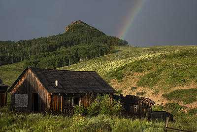 Steamboat Photograph - Abandoned Cabin And Rainbow 2 by Dave Dilli