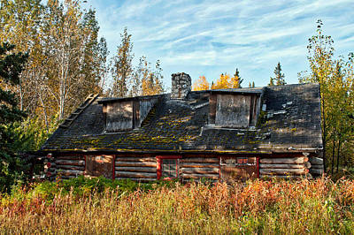 Photograph - Abandoned Cabin - Big Delta Alaska by Cathy Mahnke