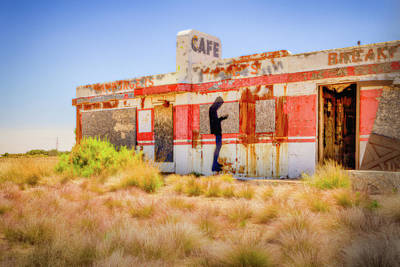 Photograph - Abandoned Cafe by David Cote