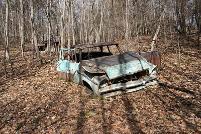 Abandoned Car 1 Art Print