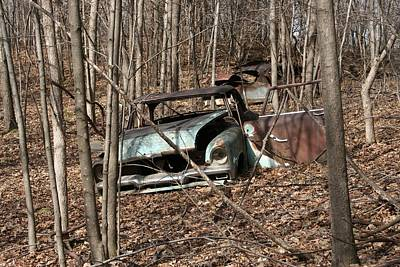 Abandoned Car 2 Art Print
