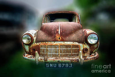 Art Print featuring the photograph Abandoned Car by Charuhas Images