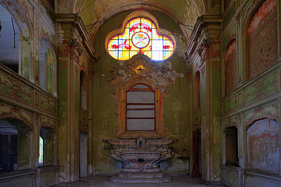 Photograph - Abandoned Chapel Of An Important Liguria Family I - Cappella Abbandonata Di Famiglia Ligure 1 by Enrico Pelos