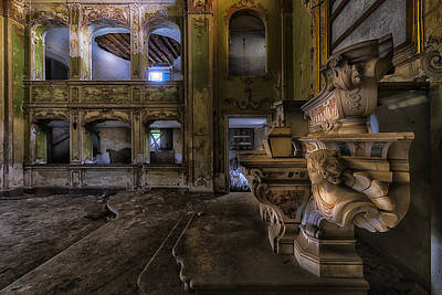 Photograph - Abandoned Chapel Of An Important Liguria Family II - Cappella Abbandonata Di Famiglia Ligure 2 by Enrico Pelos