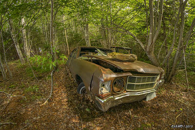 Typography Tees - Abandoned Chevelle in Cape Breton by Ken Morris