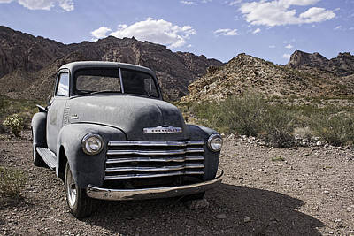 Photograph - Abandoned Chevy In The Desert by Kristia Adams