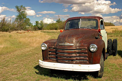 Photograph - Abandoned Chevy by Inge Riis McDonald