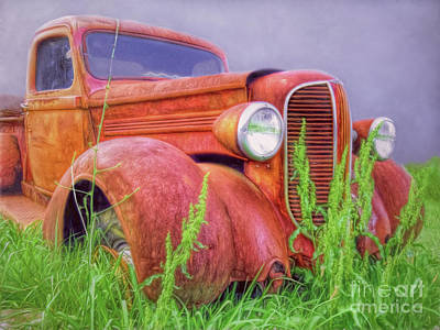 Photograph - Abandoned Chrysler Truck by Marion Johnson