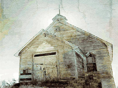 Mixed Media - Abandoned Church 1 by Dennis Buckman