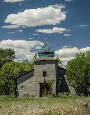 Photograph - Abandoned Church - Hondo, N M by Allen Sheffield