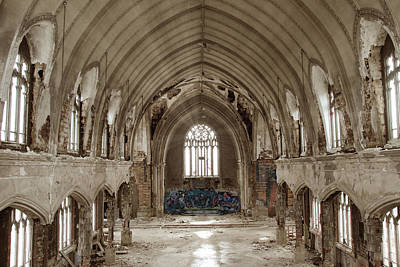 Photograph - Abandoned Church In Detroit by Andrea Kelley