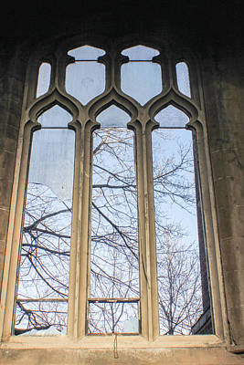 Detroit Abandoned Buildings Photograph - Abandoned Church Window 2 by John McGraw