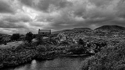 Photograph - Abandoned Cottage Connemara Bw by Louise Fahy