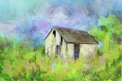 Photograph - Abandoned Cottage In Springtime Color by Carla Parris