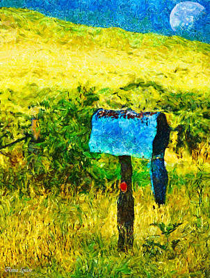 Photograph - Abandoned Countryside Mailbox by Anna Louise