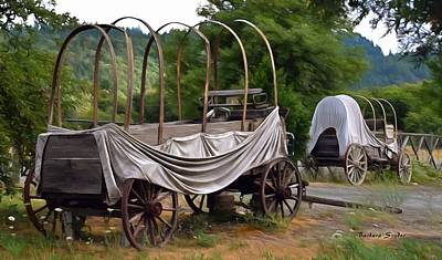 Photograph - Abandoned Cover Wagons Detail Painting by Barbara Snyder