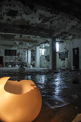 Detroit Abandoned Buildings Photograph - Abandoned Detroit Basement  by John McGraw