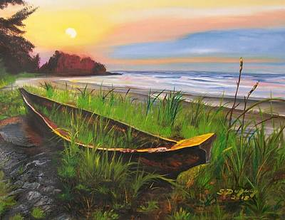 Painting - Abandoned Dhow  by Sharon Duguay