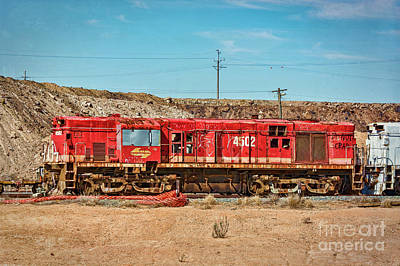 Photograph - Abandoned Diesel Engine by Stuart Row