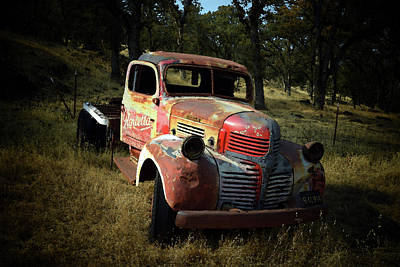Photograph - Abandoned Dodge Truck Watercolor  by Frank Wilson