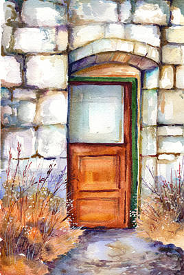 Painting - Abandoned Doorway by Peggy Wilson